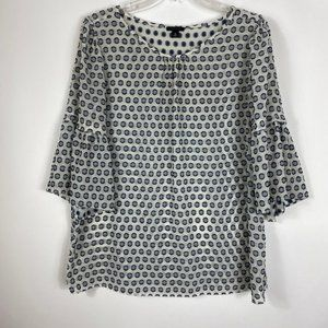 Ann Taylor Sheer Polkadot blouse